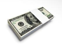 De rekeningspak van de dollar f1s Royalty-vrije Stock Foto