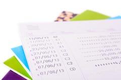 De rekeningssaldo van het bankboek Royalty-vrije Stock Afbeelding
