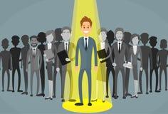 De Rekrutering van zakenmanspotlight human resource royalty-vrije illustratie