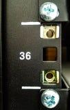 De rekserver in de gegevens centreert ruimte Stock Afbeeldingen