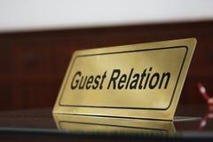 De relatie van de gast Royalty-vrije Stock Foto's