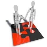 De relatie van de werknemer - menselijke relatie Royalty-vrije Stock Foto