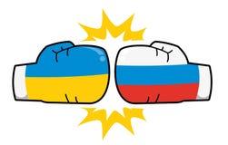 De relaties van de Oekraïne Rusland royalty-vrije illustratie