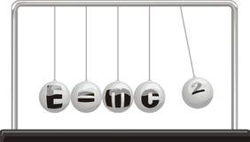 De relativiteitstheorie van Einstein - Newton `s slinger vector illustratie