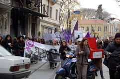 De rellen in Istanboel Stock Fotografie
