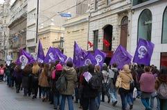De rellen in Istanboel Stock Foto's