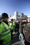 De rellen van Londen Stock Afbeeldingen