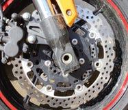 De rem van de de motorschijf van de motor stock afbeeldingen