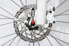 De rem van de fietsschijf - Voorraadbeeld stock fotografie