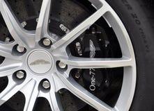 De rem van de koolstof van Aston Martin One-77 stock foto