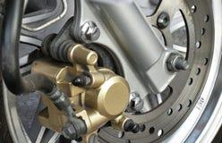 De rem van de motorfietsschijf. royalty-vrije stock foto's