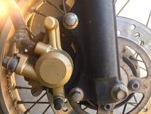 De rem van de motorfietsschijf Stock Foto's