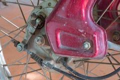 De rem van de motorfietstrommel stock foto