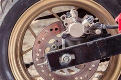 De remmen van de motorfietsschijf royalty-vrije stock foto