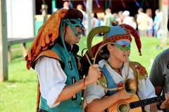 De Renaissance Faire van Bristol van Performersn stock foto's