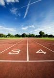 De renbaan van de atletiek Royalty-vrije Stock Afbeeldingen