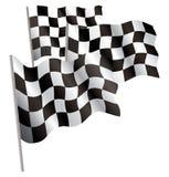 De rennen-sport beëindigt 3d vlag. Royalty-vrije Stock Foto's
