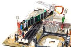 De reparatie of de verbetering van de computer Stock Foto
