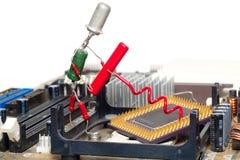 De reparatie of de verbetering van de computer Stock Afbeelding