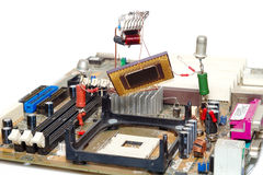 De reparatie of de verbetering van de computer Royalty-vrije Stock Foto's