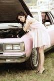 De reparatie van de auto Stock Foto