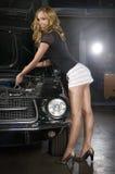 De reparatie van de auto? Stock Afbeelding