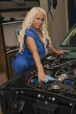De reparatie van de auto? Stock Foto