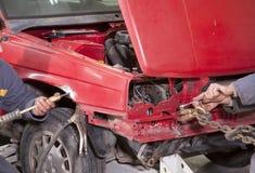 De reparatie van de auto stock afbeelding