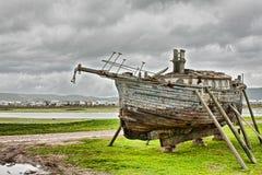 De reparatie van de boot Royalty-vrije Stock Foto's