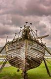 De reparatie van de boot Stock Foto