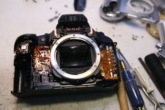 Camerareparatie royalty-vrije stock foto's