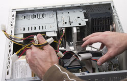 De reparatie van de computer Stock Foto