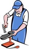 De reparatie van de de schoenmakersschoen van de schoenmaker Royalty-vrije Stock Foto's