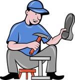 De reparatie van de de schoenmakersschoen van de schoenmaker Royalty-vrije Stock Fotografie