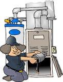 De Reparatie van de oven Stock Afbeelding