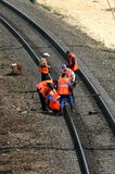De reparatie van de spoorweg royalty-vrije stock afbeeldingen