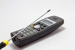 De reparatie van de telefoon Stock Foto's