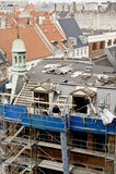 De reparatie van het dak Royalty-vrije Stock Fotografie