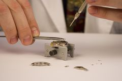 De Reparatie van het horloge Royalty-vrije Stock Fotografie