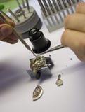 De Reparatie van het horloge Stock Foto's