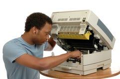 De Reparatie van het kopieerapparaat Stock Afbeeldingen