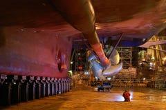 De reparatie van het schip stock foto