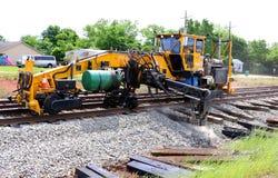 De Reparatie van het spoorwegspoor stock fotografie