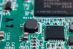De reparatie van de kringsraad Elektronische hardware moderne technologie Motherboard digitale persoonlijke chip stock fotografie