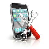 De reparatie van Smartphone royalty-vrije illustratie