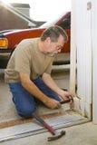 De reparaties van de timmerman stock foto
