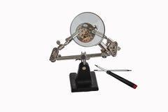 De reparatieworkshop van het horloge royalty-vrije stock afbeeldingen