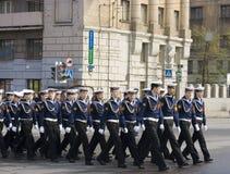 De repetitie van de parade Stock Foto's
