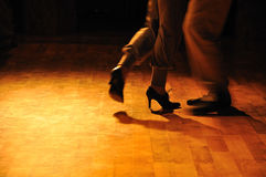 De repetitie van de tango stock foto