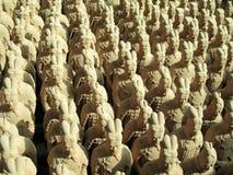 De Replica's van de Strijder van het terracotta Royalty-vrije Stock Foto